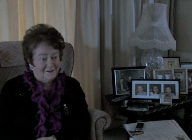 Mary O'Rourke interviewed in her home