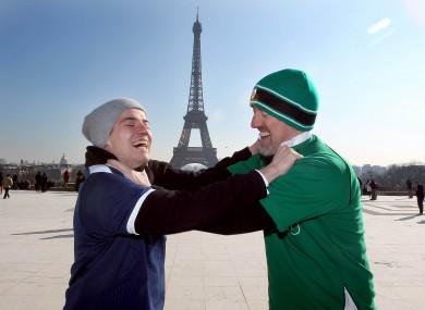 French fan Alex Michel and Irish fan Garrett Killeen at loggerheads.