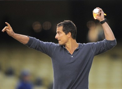 Bear Grylls puts a little spice on his opening pitch