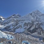 Mt Everest is the central peak in this photo. (Image via AirPano.com)