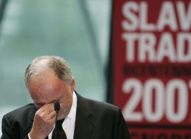 Not the first time Livingstone has got emotional -here he is delivering a speech in 2007