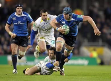 Morgan Parra tries to slow down Sean O'Brien during the team's last clash in 2010.