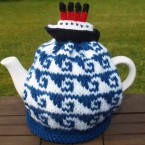 This hand-knitted tea cosy (on eBay for £5.50) takes a different angle among Titanic memorabilia by marking the pre-disaster part of the ship's journey.