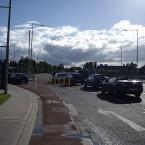 Cycle lane outside the Beacon Hotel in Sandyford, Dublin. (Image via b.lorg)