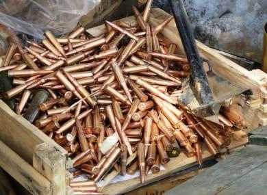Ammunition captured from SAF in South Kordofan in July 2011