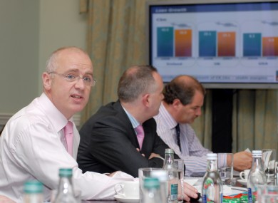 David Drumm at an Anglo results briefing in 2008.