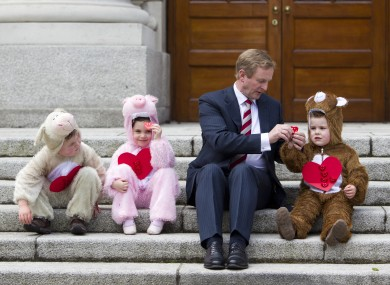 Enda Kenny meets some new friends (and helps launch the Irish Heart Foundation's Happy Heart appeal)