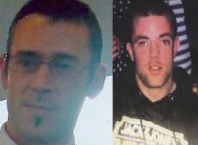 Undated garda photos of Daniel Hendy, left, and David Gilligan.