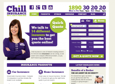 Chill Insurance does the bulk of its trade through its website, Chill.ie.