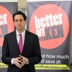 Labour leader Ed Miliband at the launch of Livingstone's London Manifesto.