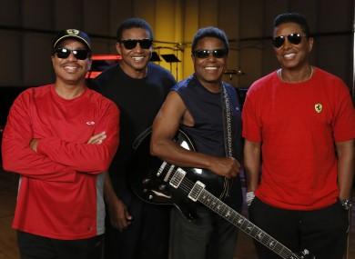 Marlon Jackson, Jackie Jackson, Tito Jackson and Jermaine Jackson during a rehearsal in Burbank.