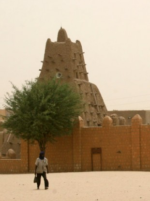 The UNESCO-listed Sankore Mosque in Timbuktu.