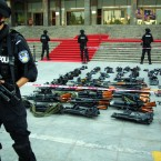 Some of the weapons in Zhengzhou, Henan Province of China. (Photo by Xiang Mingchao/ChinaFotoPress/PA)