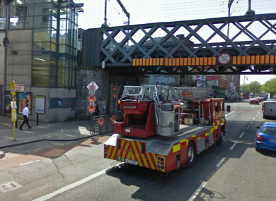 The junction of George's Quay and Tara St, where the assault occurred on Sunday morning.