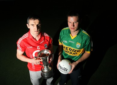 Cork's Grahan Canty and Eoin Brosnan of Kerry.