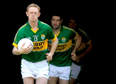 Colm Cooper leads his side out to play Limerick last month.