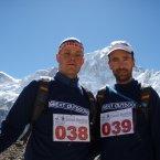 Mark (left) before the Everest Marathon