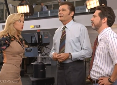 Willard, centre, as he appeared in Anchorman