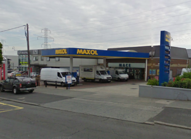 The incident occurred at this filling station just off the Long Mile Road on Saturday afternoon.