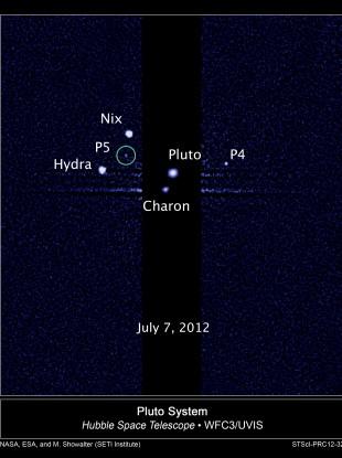 hubble telescope spots fifth moon near pluto thejournal ie