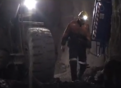 A still from a promotional video on the mine