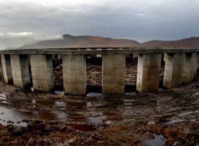 The site dubbed Achill-Henge on Achill Island, Co Mayo
