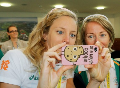 One tough cookie: Morrison looks back on her picture of Enda Kenny with 20k racewalker, Olive Loughnane.