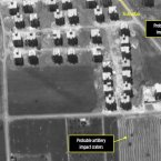 31 July satellite image showing a residential area by Anadan and probably artillery craters. (Analysis secured by Amnesty International USA (c) Digital Globe 2012)