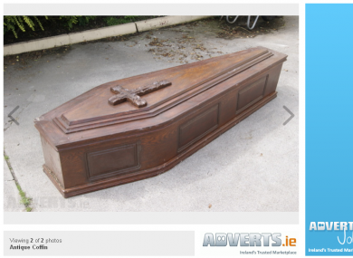 Coffin for sale    and it's only been used once · The Daily Edge
