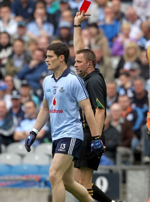 Diarmuid Connolly is sent off in the Leinster semi-final.
