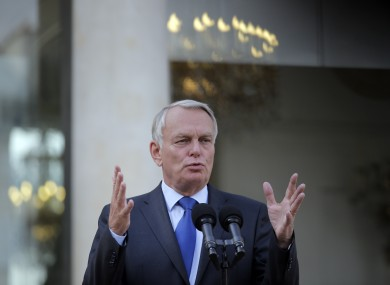 France's Prime Minister Jean-Marc Ayrault earlier today