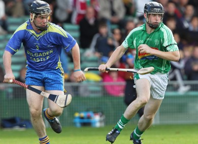 Graeme Mulcahy (right) was in lethal form for Kilmallock today.