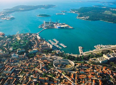 Aerial view of the city of Pula (File)
