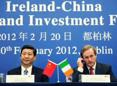 Xi Jinping with Taoiseach Enda Kenny in February