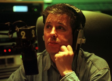 Gerry Ryan at the mic in 2fm in 1997.