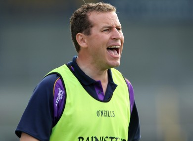 New Wexford U21 hurling manager JJ Doyle.