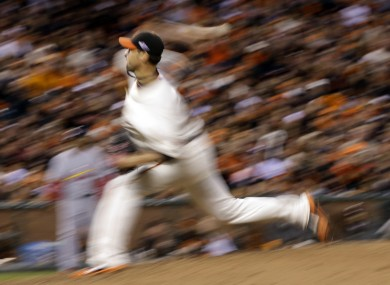 Giants pitcher Ryan Vogelsong in action.