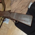 A rifle engraved with the words 'Irish Volunteers'.