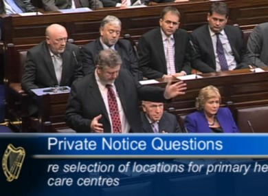 James Reilly speaking in the Dáil today.