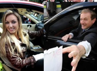 Who's in the Playboy driving seat... Rosanna or Enda?