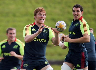 Sean Dougall in training this week.