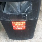 Signs also appear on a number of bins.