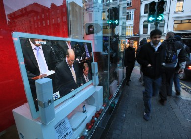 Michael Noonan delivering part of the Budget last year.