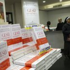 Pope Benedict XVI's second book on display at a bookshop in central Rome. (AP Photo/Andrew Medichini)
