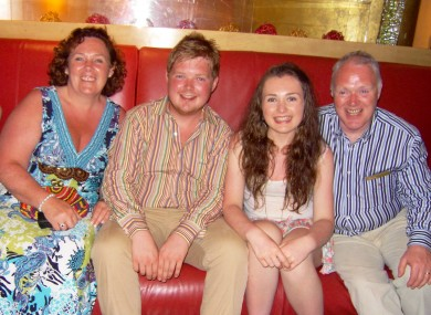 The Black family on holiday in Dubai in 2012.