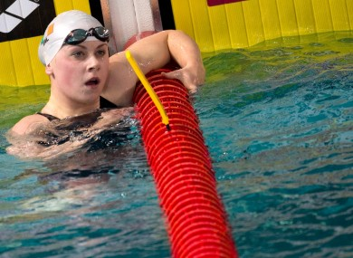 Sycerika McMahon had another good day in the pool.