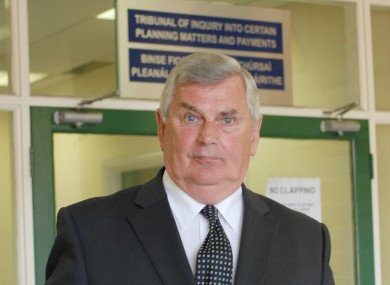 Ray MacSharry arriving at the Mahon Tribunal in 2008.