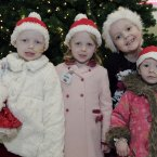 Twins, Olivia & Laura Killian (4), Louise Shorthall (7) & Alice Clarke (3) wait to board the annual Santa Express.