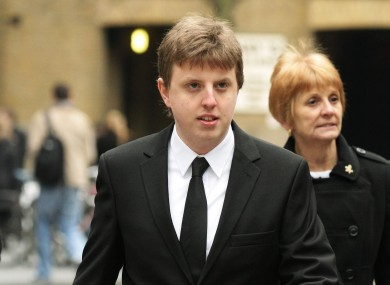 File photo of Christopher Weatherhead who was convicted today of being part of hacking group Anonymous's cyber attacks.