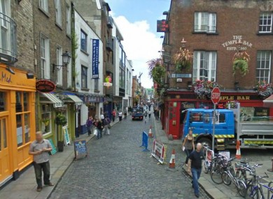 Essex Street in Temple Bar, Dublin.